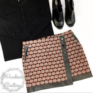 Karen Millen Wool Faux Leather Mini Skirt